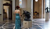 A woman looking at a sculpture at Rodin Museum @ Philadelphia, PA.